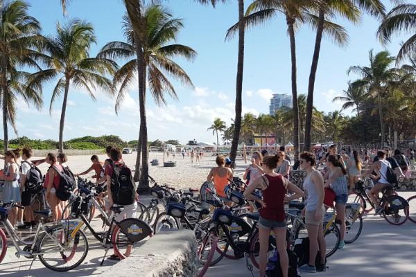 Stage natation Plantation, Floride, sortie vélo Miami Beach