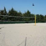 Stage natation à Loutraki en Grèce, complexe sportif, terrain de beach volley
