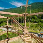 Stage natation à Andorre, activité accrobranche en été