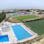 stage natation à Torremolinos, vue aérienne bassins découverts