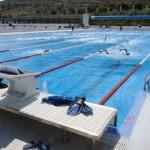 stage natation à Torremolinos, plot de départ FINA bassin 50m découvert