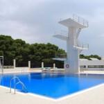 stage natation à Torremolinos, fosse à plongeon découverte, utilisation possible pour natation synchronisée