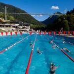 stage natation à Morzine, bassin 50m découvert accessible l'été