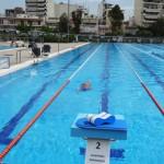 Stage natation à Athènes, bassin 50m découvert