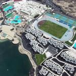 Stage natation Lanzarote, Club La Santa - vue aérienne