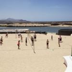 Stage natation Lanzarote, Club La Santa - terrain de beach volley