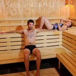 Stage natation à Dijon, sauna