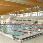 stage natation à Sabadell, bassins ouverts : 50m et 25m adapté synchro et waterpolo