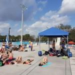 Stage natation Plantation en Floride, grande plage pour échauffement et stretching