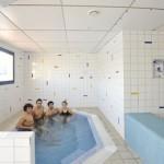 Stage natation à Canet-en-Roussillon en France, unité de récupération (hamman et jacuzzi)